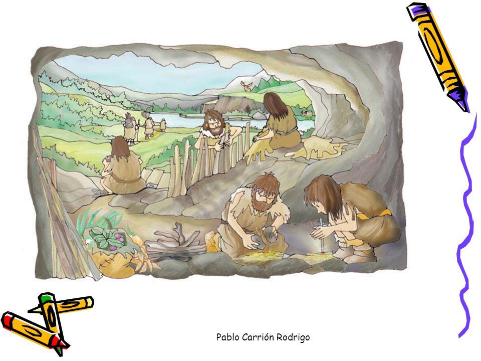 Pablo Carrión Rodrigo Los primeros pobladores de la península : (hace un millón de años) Eran nómadas: no tenían vivienda fija. Habitaban cuevas o cab
