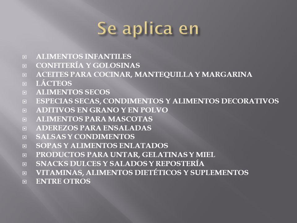 ALIMENTOS INFANTILES CONFITERÍA Y GOLOSINAS ACEITES PARA COCINAR, MANTEQUILLA Y MARGARINA LÁCTEOS ALIMENTOS SECOS ESPECIAS SECAS, CONDIMENTOS Y ALIMEN