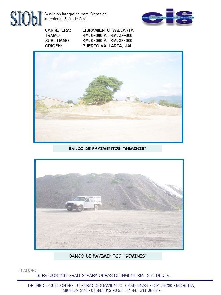 Servicios Integrales para Obras de Ingeniería, S.A.