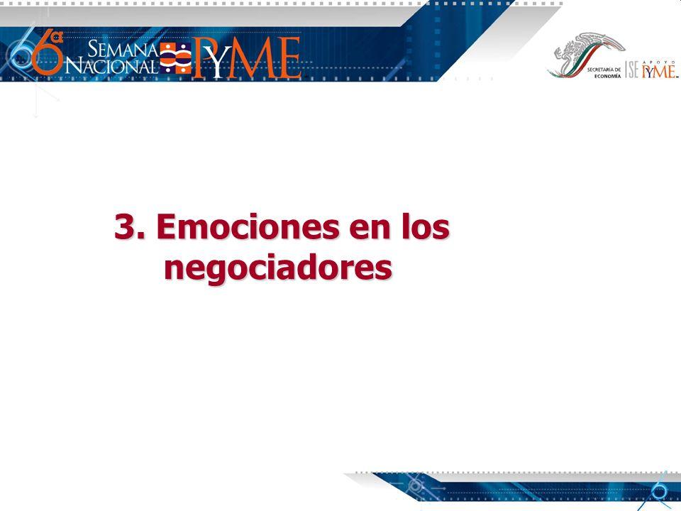 3. Emociones en los negociadores negociadores