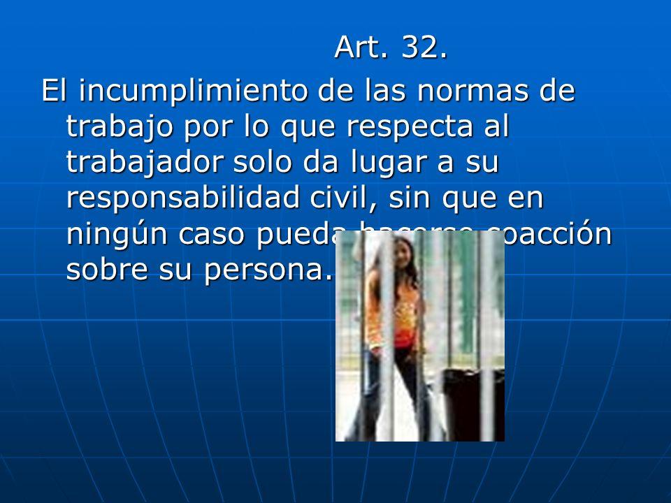 TITULO QUINTO Trabajo de las mujeres Art.164 Art.