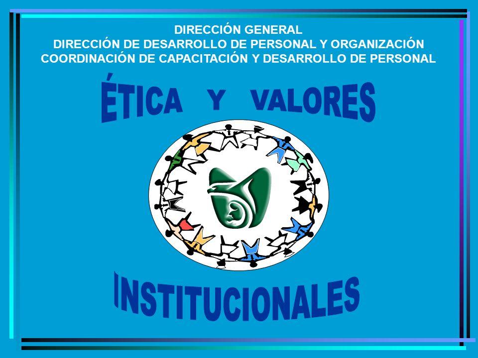 DIRECCIÓN GENERAL DIRECCIÓN DE DESARROLLO DE PERSONAL Y ORGANIZACIÓN COORDINACIÓN DE CAPACITACIÓN Y DESARROLLO DE PERSONAL