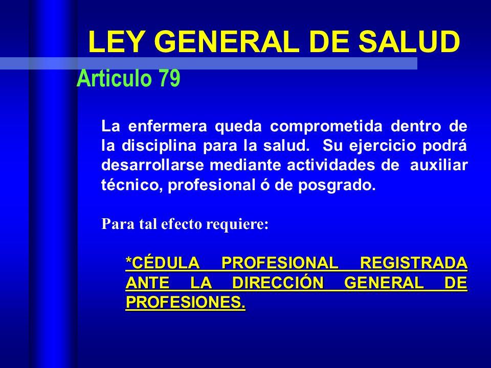 LEY FEDERAL DEL TRABAJO Párrafo 31 Sección Décima Sexta, Comisión Nacional de Salarios Mínimos 1999 Párrafo 31 ENFERMERO (A) CON TITULO: Es el trabaja