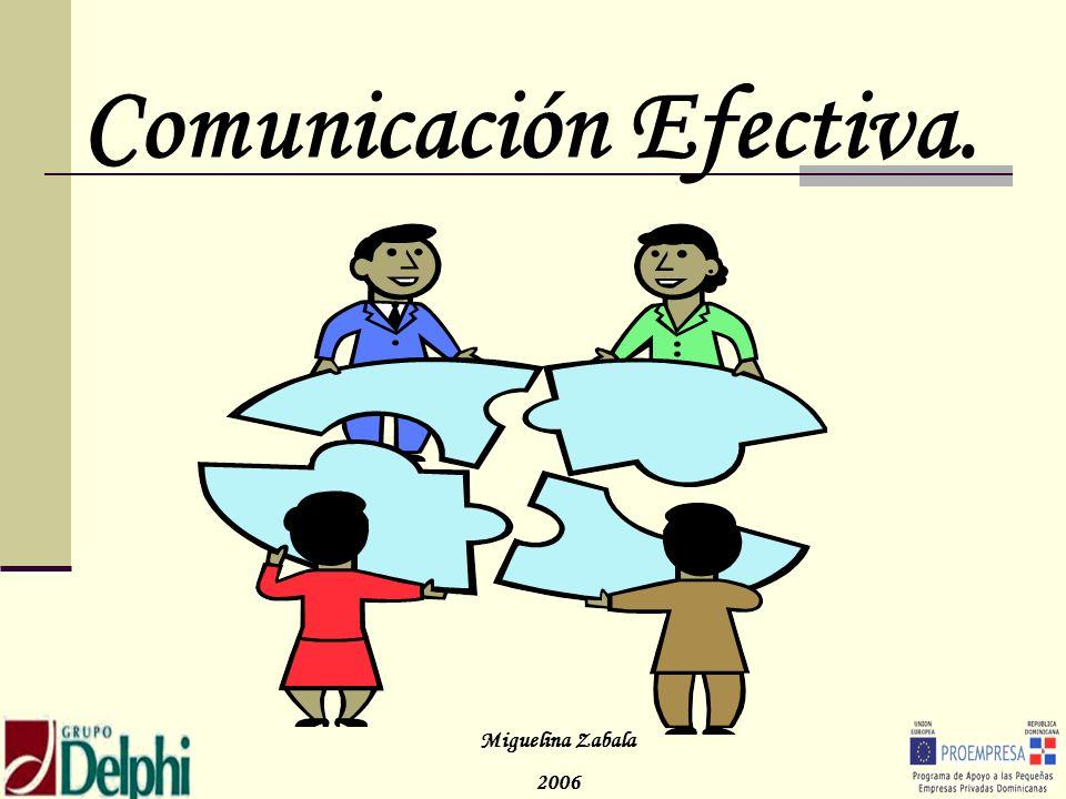 Comunicación Efectiva. Miguelina Zabala 2006