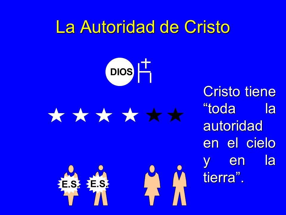 La Autoridad de Cristo DIOS Cristo tiene toda la autoridad en el cielo y en la tierra. E.S.