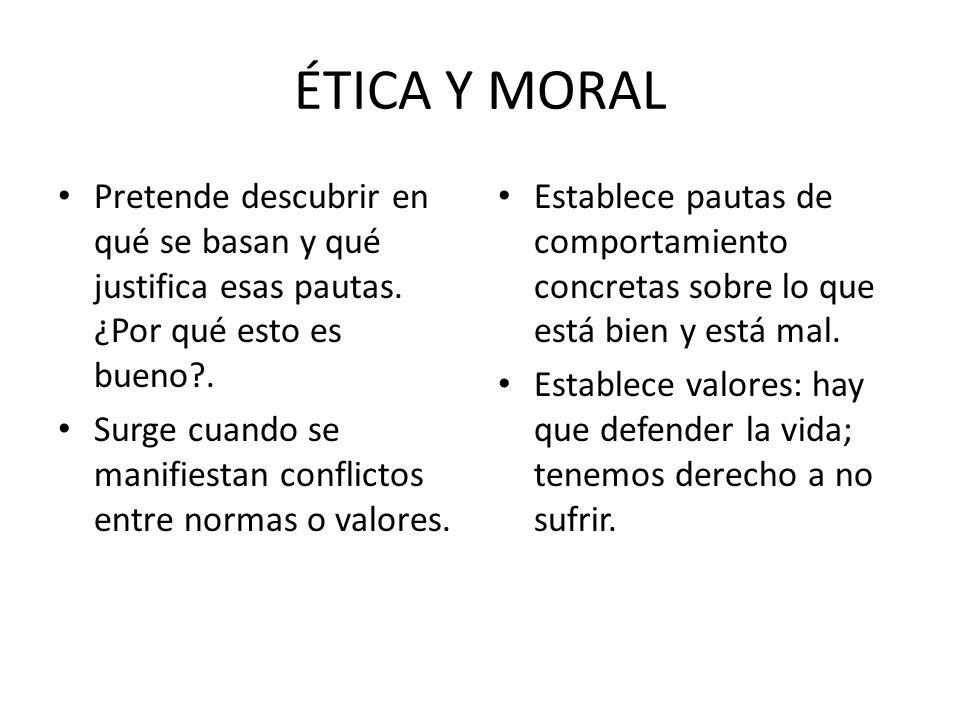Juicio moral Otras circunstancias a tener en cuenta: – 1.- El motivo, la causa que mueva a actuar, el por qué.