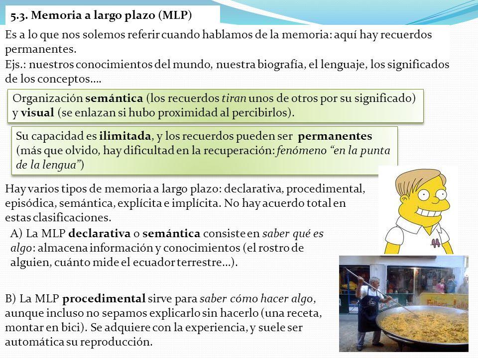 C) La MLP episódica es autobiográfica: recuerda sucesos de nuestra vida (juegos de la infancia, regalos de cumpleaños…) ordenados temporalmente.