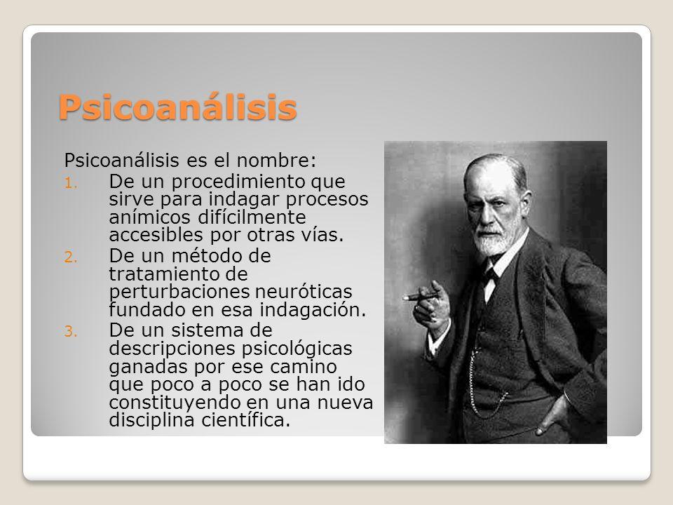 Psicoanálisis Cuando Sigmund Freud (1856-1939) desarrolló el psicoanálisis complementó la psicología de la conciencia con su psicología del inconsciente.