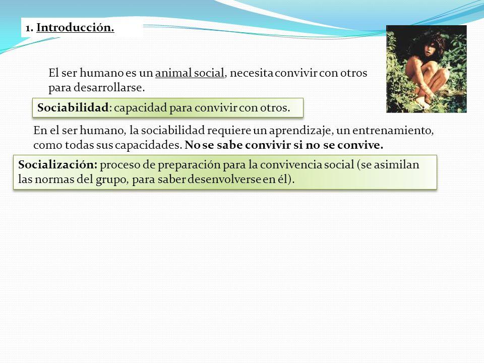 El ser humano es un animal social, necesita convivir con otros para desarrollarse. Sociabilidad: capacidad para convivir con otros. En el ser humano,