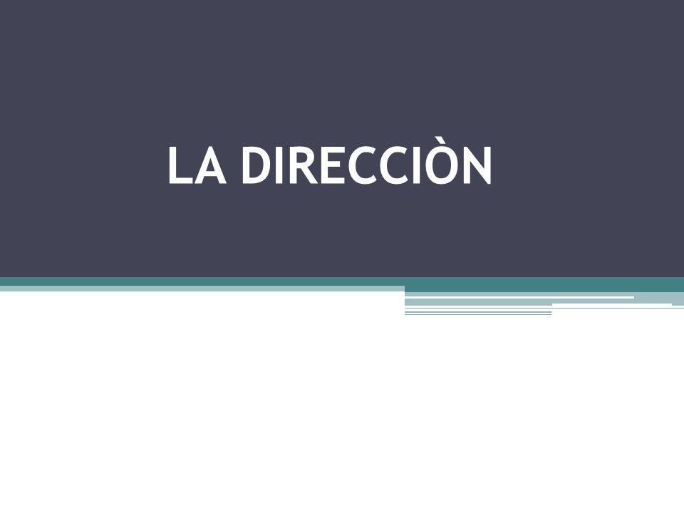 CONTEXTUALIZACIÒN La Dirección constituye una de las más complejas funciones administrativas, pues incluye orientación, asistencia a la ejecución, comunicación y liderazgo, en fin, todos los procesos que utilizan los administradores para influir en los subordinados de modo que se comporten de acuerdo con las expectativas de la empresa.