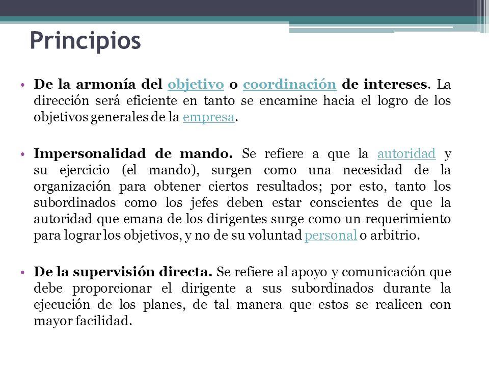 Continuación Principios De la vía jerárquica.