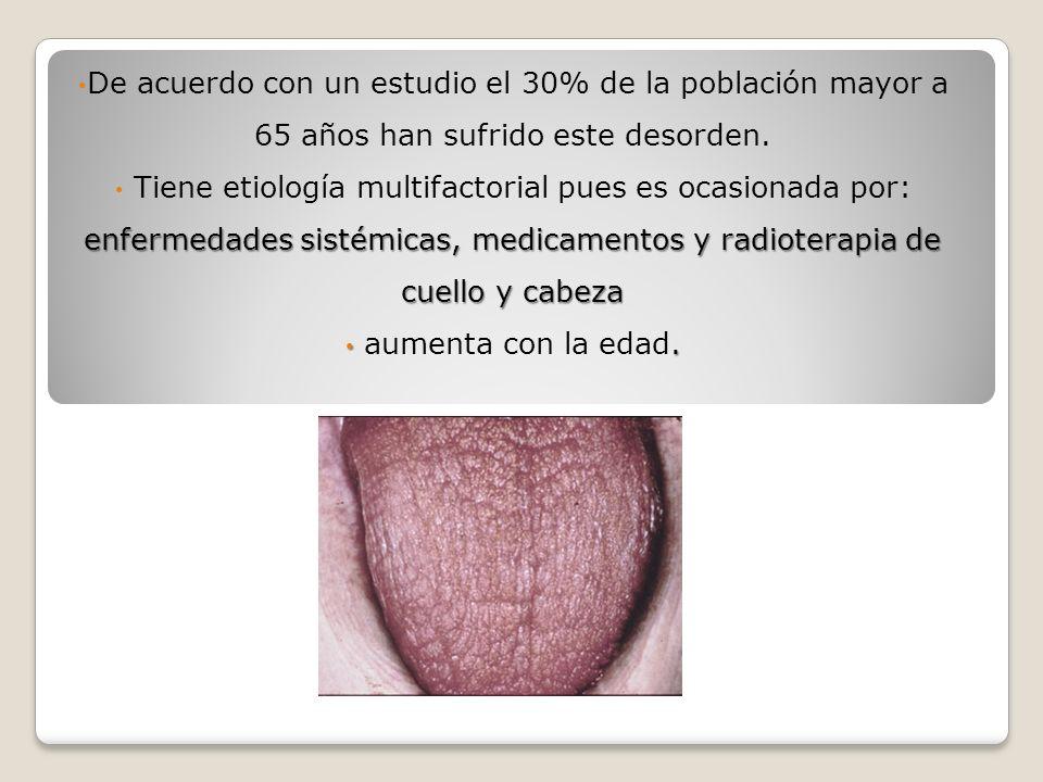 *Estimulación de saliva y sustitución.
