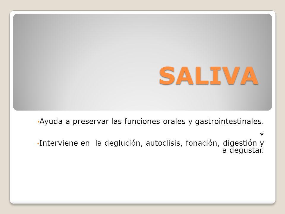 *Hay muchas variedades de sustitutos de saliva que son efectivos y disminuyen la sequedad bucal.