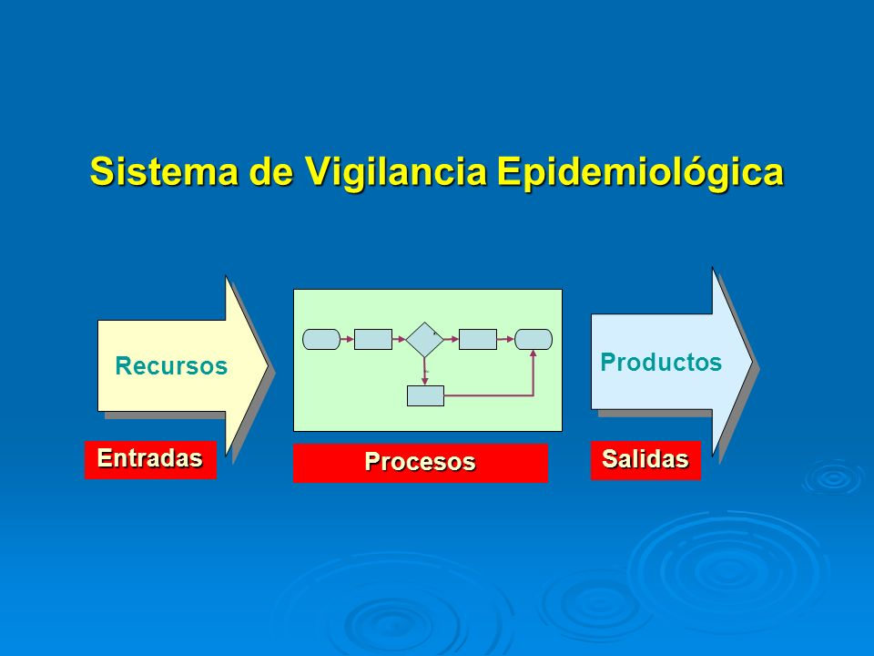 Sistema de Vigilancia Epidemiológica Recursos Productos No Sí Entradas Salidas Procesos