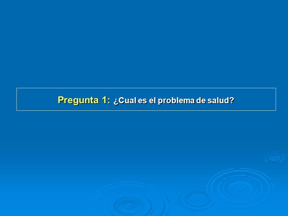 Pregunta 1: ¿Cual es el problema de salud?