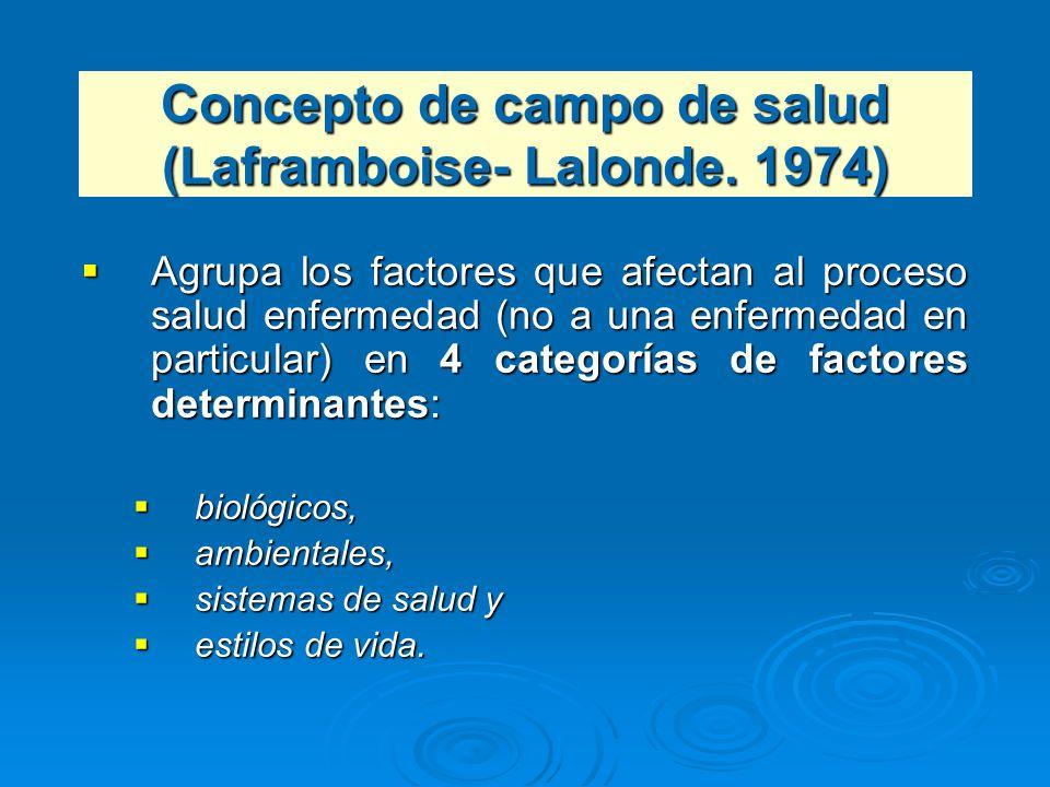 Agrupa los factores que afectan al proceso salud enfermedad (no a una enfermedad en particular) en 4 categorías de factores determinantes: Agrupa los
