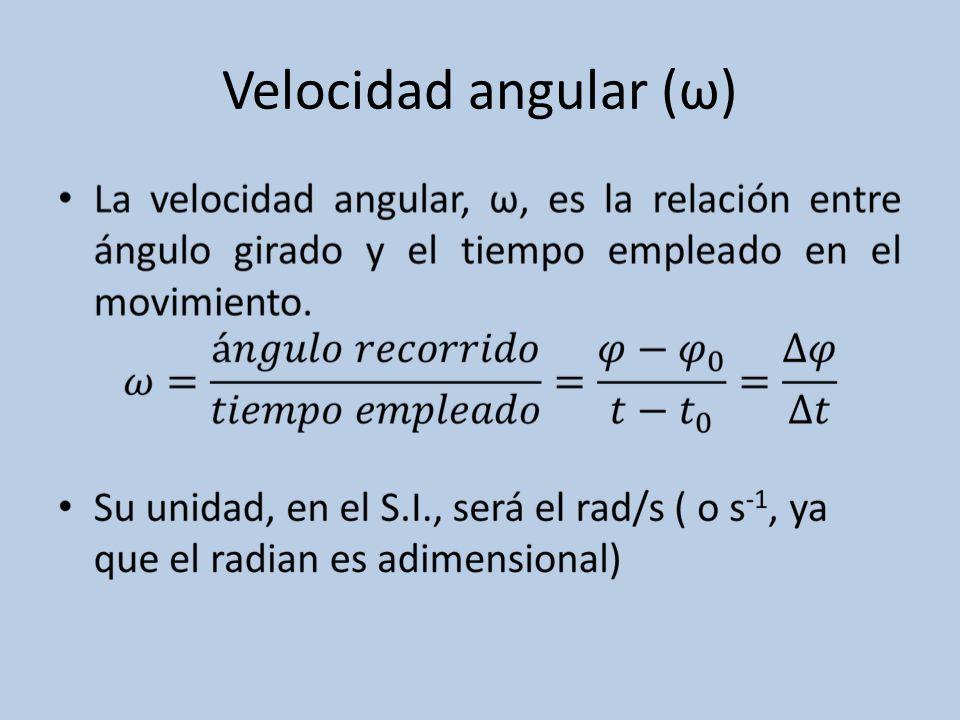 Velocidad angular (ω)