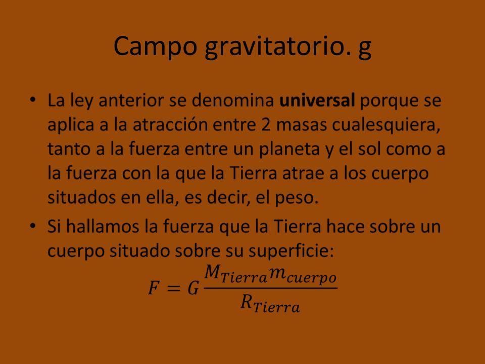 Campo gravitatorio. g
