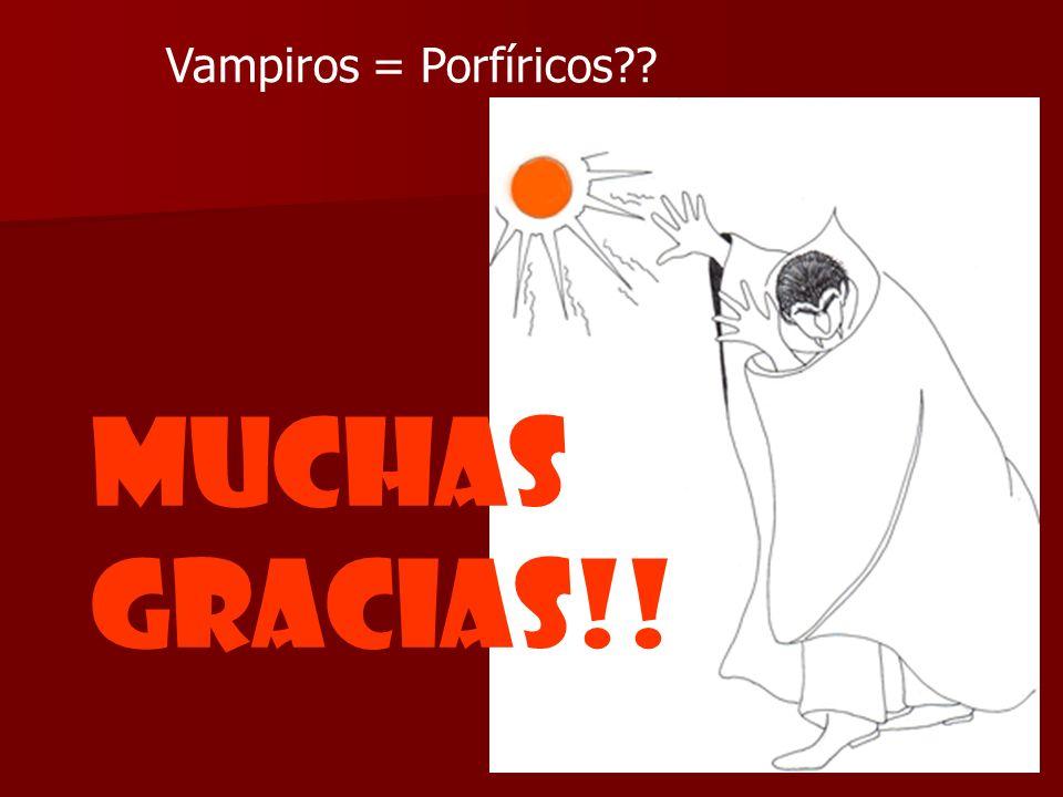 Vampiros = Porfíricos?? MUCHAS GRACIAS!!