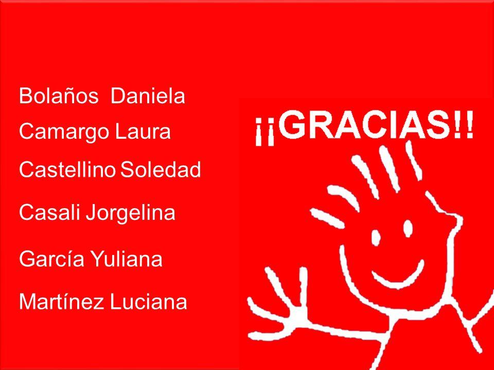 Bolaños Daniela Castellino Soledad Casali Jorgelina García Yuliana Martínez Luciana Camargo Laura