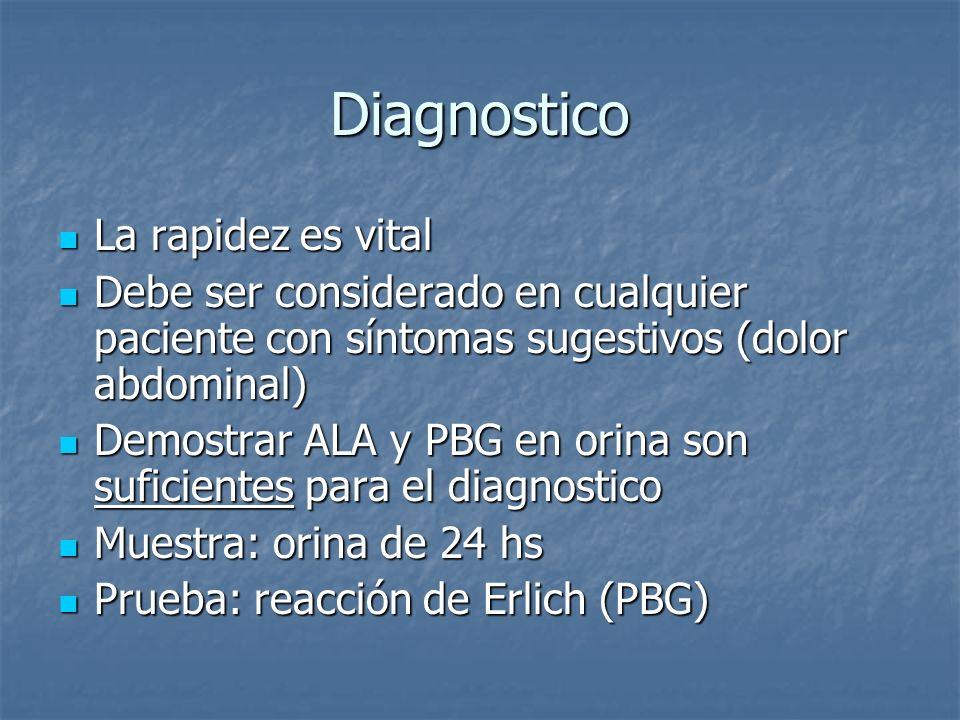 Diagnostico La rapidez es vital La rapidez es vital Debe ser considerado en cualquier paciente con síntomas sugestivos (dolor abdominal) Debe ser cons