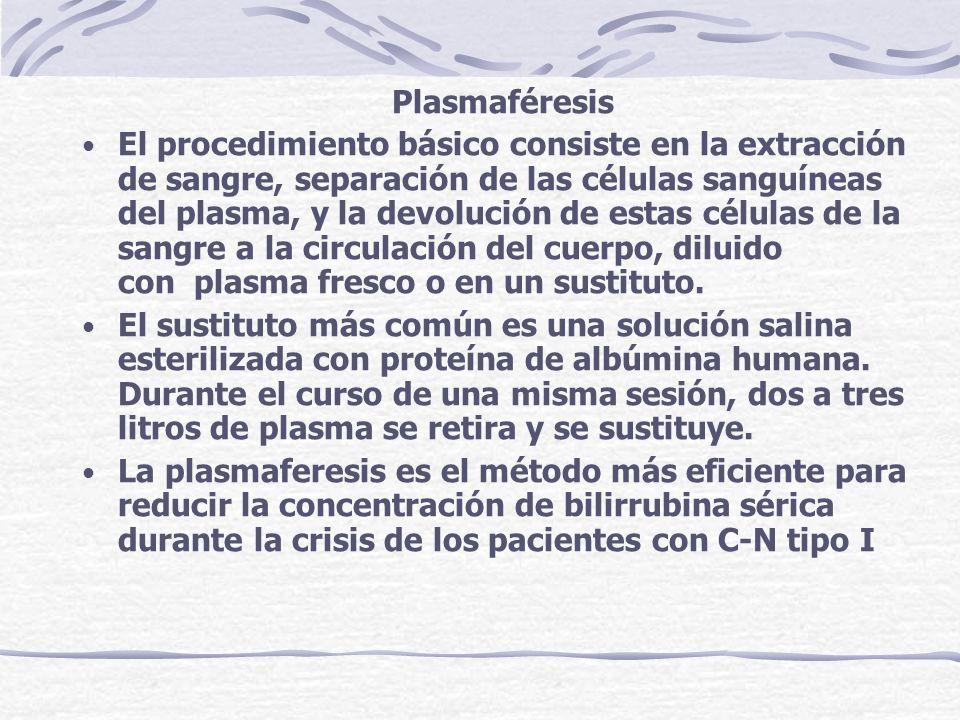 Plasmaféresis El procedimiento básico consiste en la extracción de sangre, separación de las células sanguíneas del plasma, y la devolución de estas c
