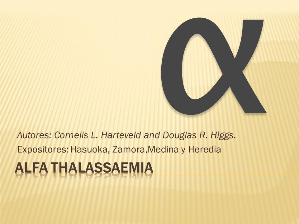 La α-talasemia es un trastorno hereditario de carácter autosómica recesiva.