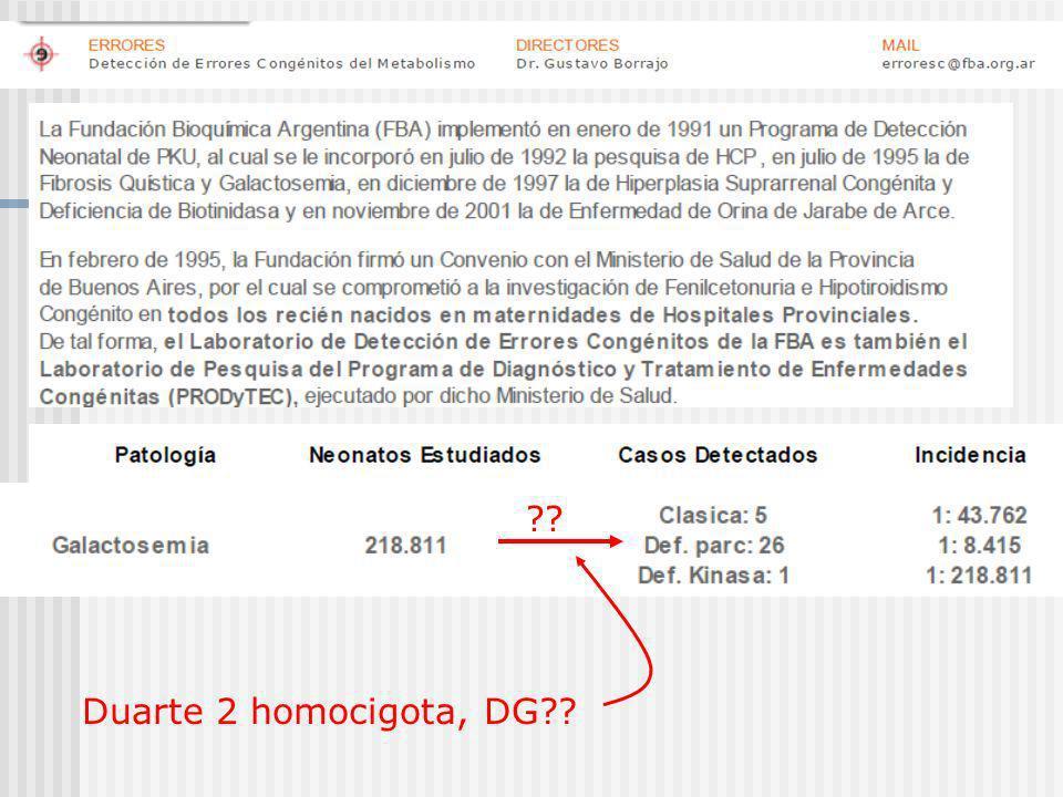 ?? Duarte 2 homocigota, DG??