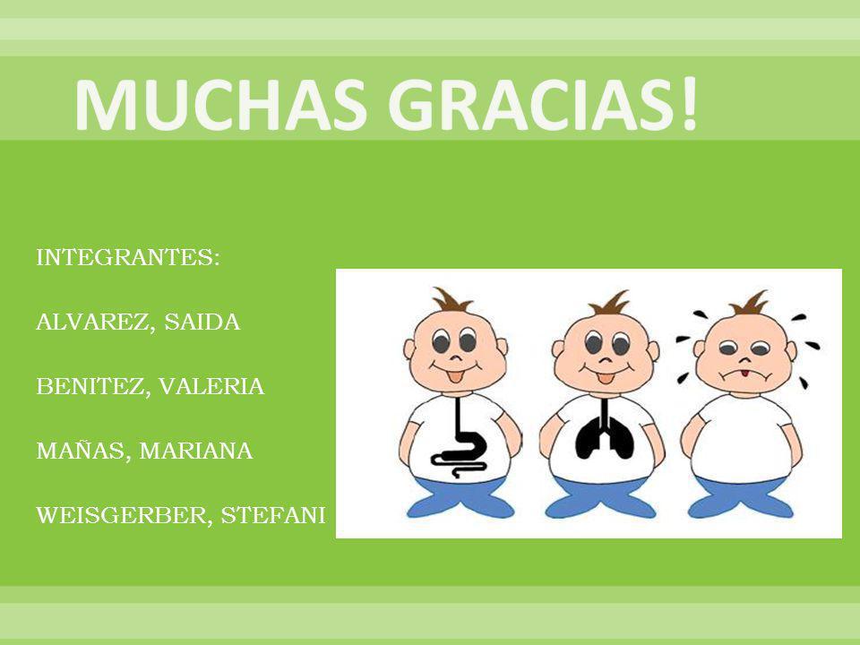 INTEGRANTES: ALVAREZ, SAIDA BENITEZ, VALERIA MAÑAS, MARIANA WEISGERBER, STEFANI