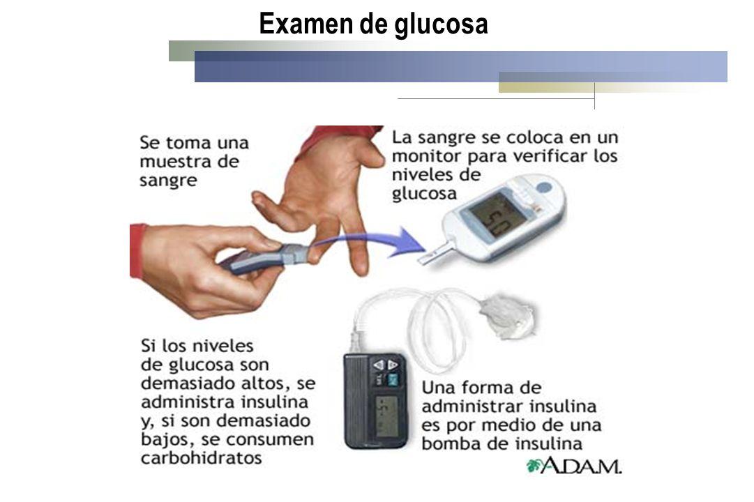 Examen de glucosa