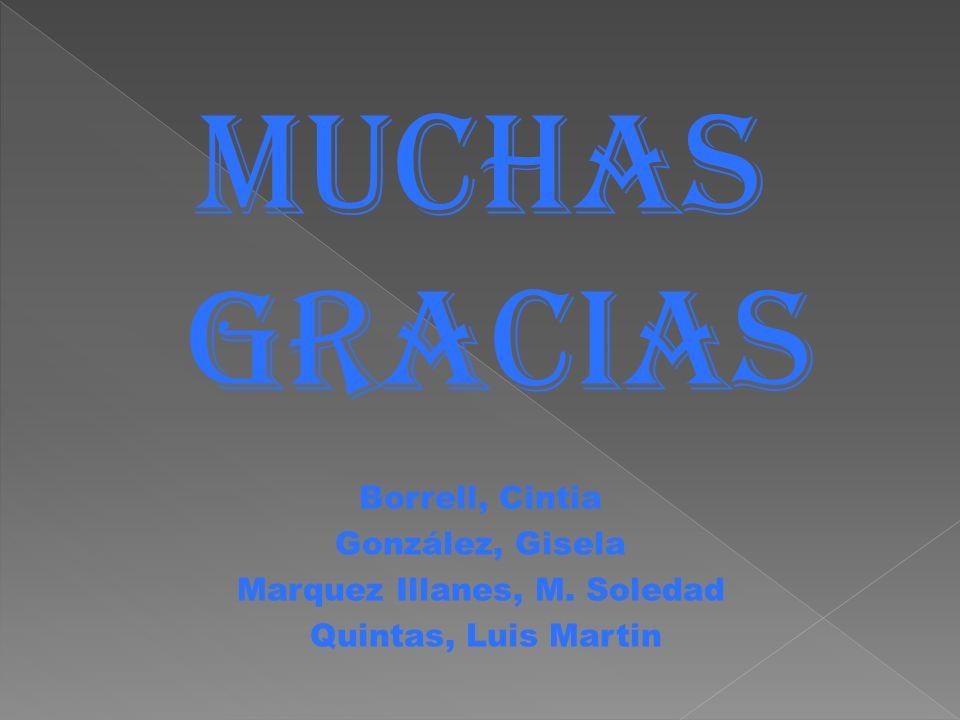 Muchas GRACIAS Borrell, Cintia González, Gisela Marquez Illanes, M. Soledad Quintas, Luis Martin