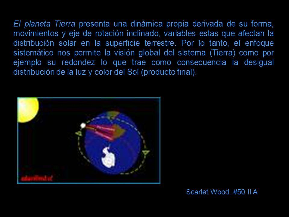 El planeta Tierra presenta una dinámica propia derivada de su forma, movimientos y eje de rotación inclinado, variables estas que afectan la distribuc