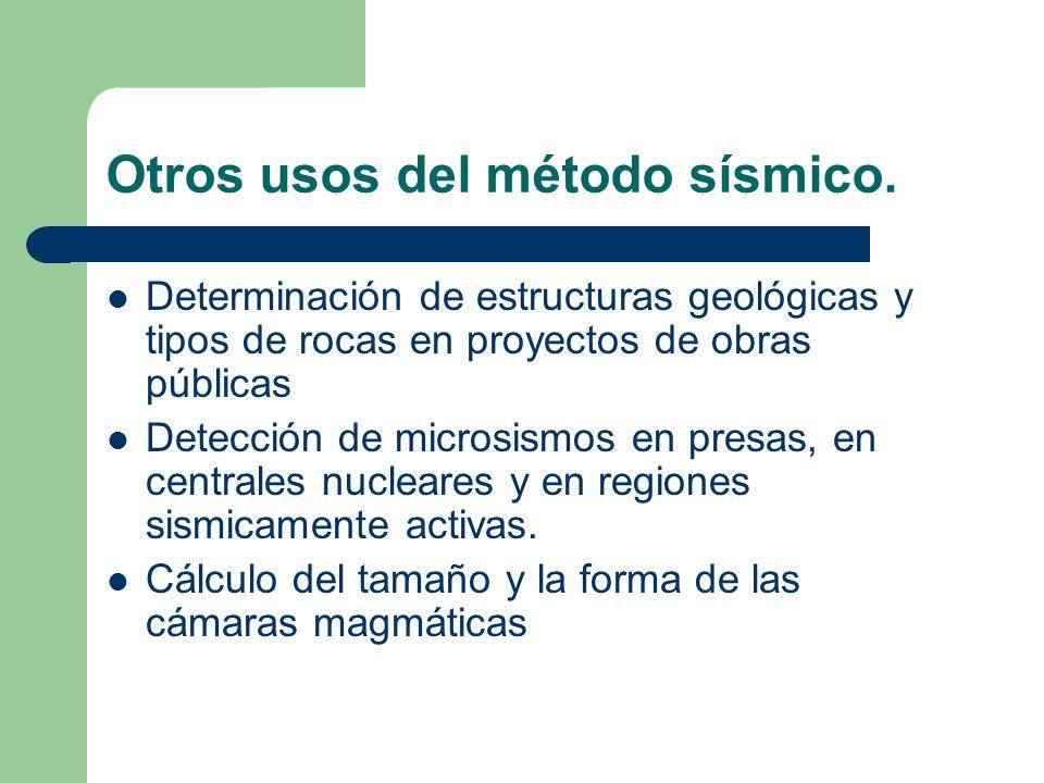 Otros usos del método sísmico. Determinación de estructuras geológicas y tipos de rocas en proyectos de obras públicas Detección de microsismos en pre
