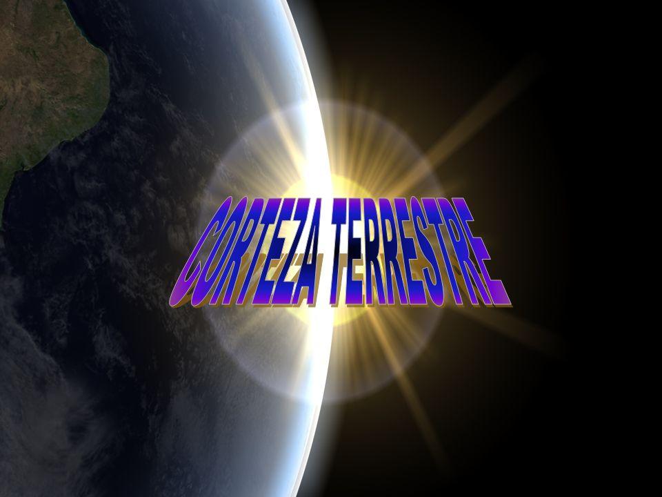 Se denomina corteza terrestre a la capa más superficial de la estructura de la Tierra; su espesor varía de 30 km, en el fondo oceánico, hasta 60 km en las zonas montañosas de los continentes; los elementos más abundantes de esta capa son el silicio, el oxígeno, el aluminio y el magnesio.