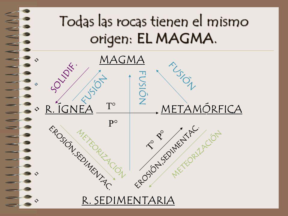 Todas las rocas tienen el mismo origen: EL MAGMA.MAGMA R.
