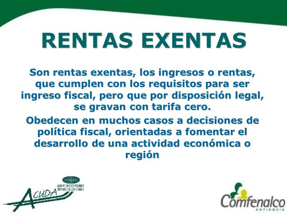 OTRAS RENTAS EXENTAS Los sueldos o emolumentos que la Corporación Andina de Fomento, pague a sus directores, funcionarios y empleados, no ciudadanos, o no nacionales del país.