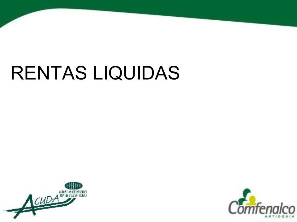 RENTAS LIQUIDAS