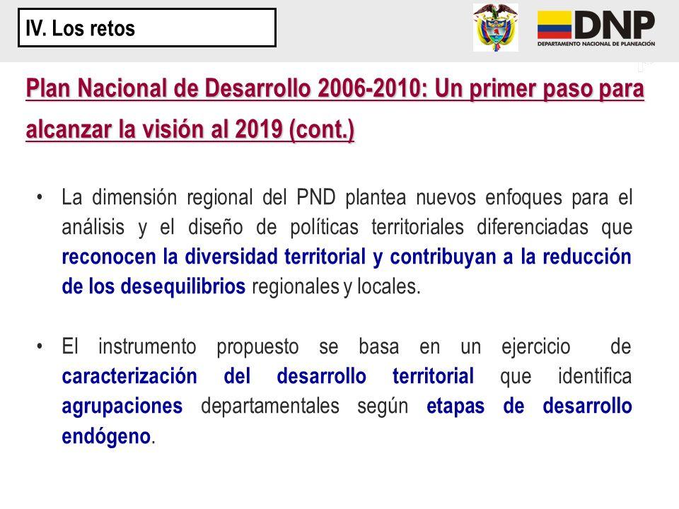 La dimensión regional del PND plantea nuevos enfoques para el análisis y el diseño de políticas territoriales diferenciadas que reconocen la diversida