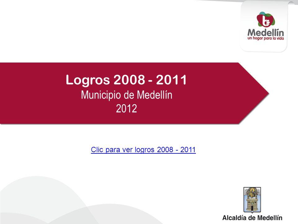 Logros 2008 - 2011 Municipio de Medellín 2012 Logros 2008 - 2011 Municipio de Medellín 2012 Clic para ver logros 2008 - 2011