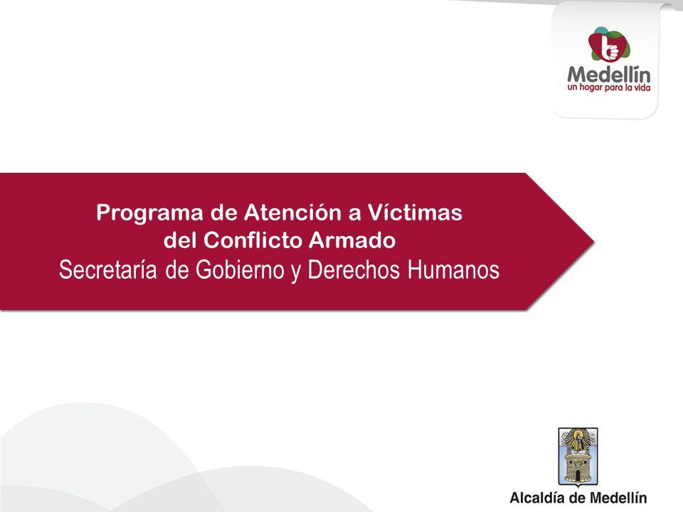 Programa de Atención a Víctimas del Conflicto Armado Secretaría de Gobierno y Derechos Humanos Programa de Atención a Víctimas del Conflicto Armado Se