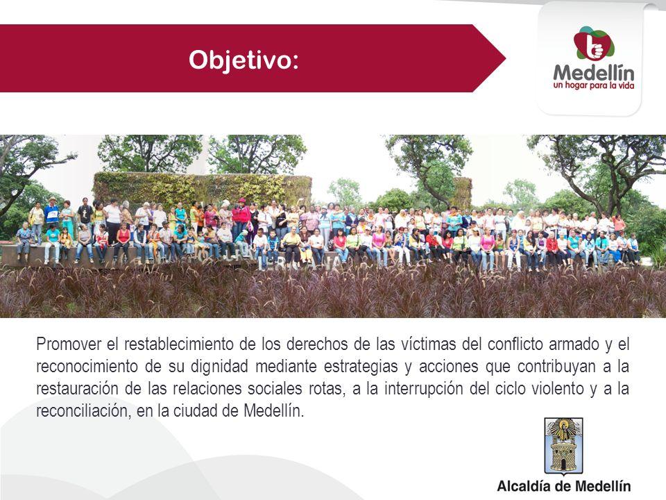 Promover el restablecimiento de los derechos de las víctimas del conflicto armado y el reconocimiento de su dignidad mediante estrategias y acciones q