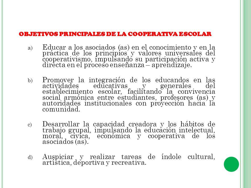 PERFIL DEL EDUCANDO COOPERADOR HonradoSolidario Participativo Respetuoso CríticoGeneroso DinámicoJusto CreativoDemocrático Responsable