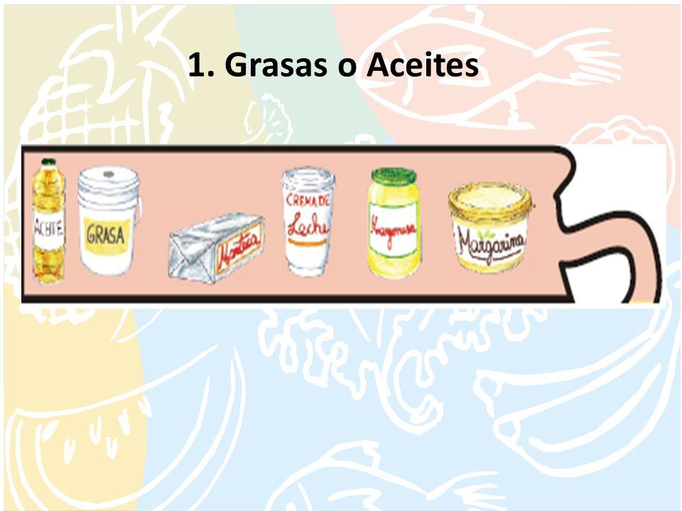 1. Grasas o Aceites