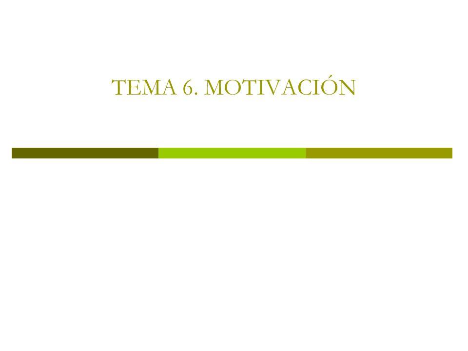 TEMA 6. MOTIVACIÓN