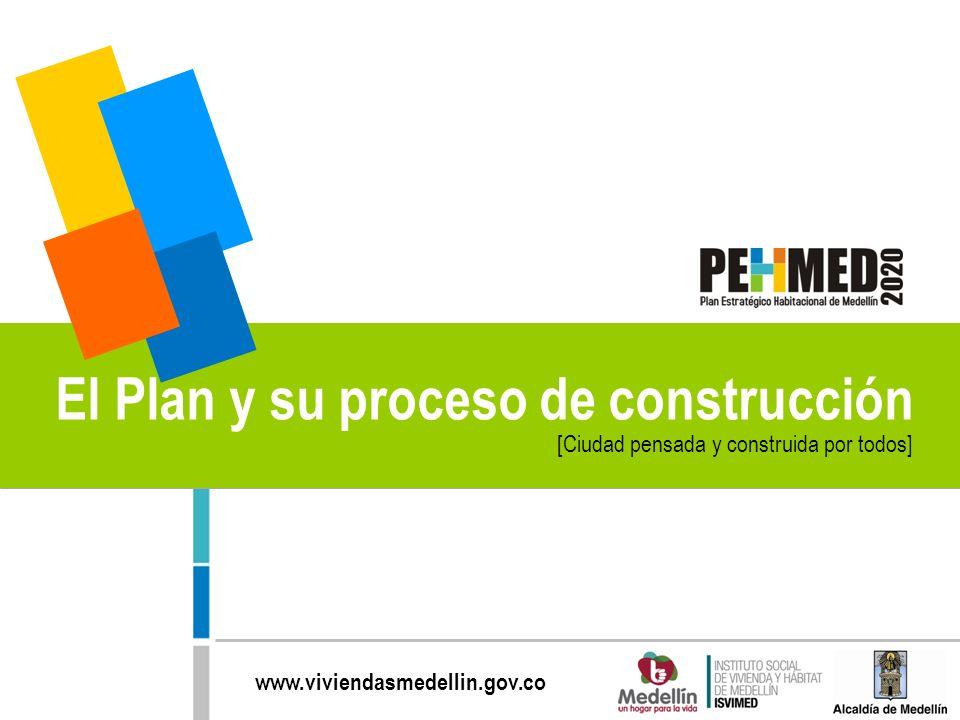 www.viviendasmedellin.gov.co [Ciudad pensada y construida por todos] El Plan y su proceso de construcción