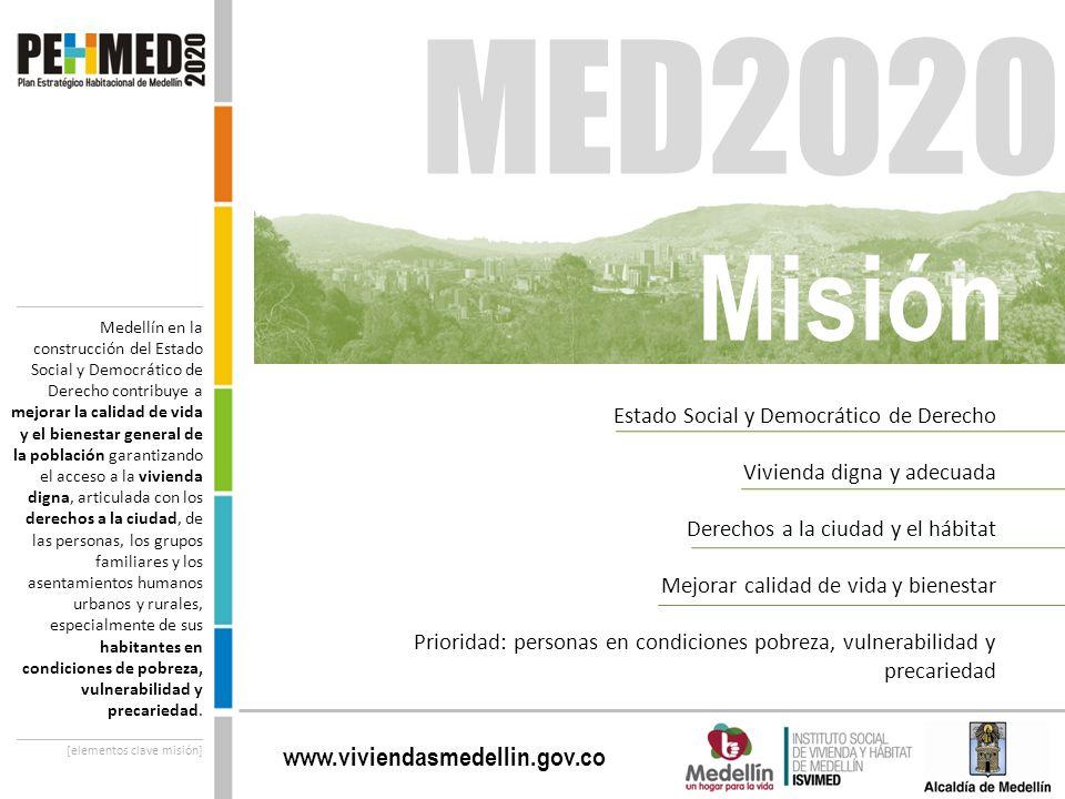 www.viviendasmedellin.gov.co _____________________ Medellín en la construcción del Estado Social y Democrático de Derecho contribuye a mejorar la cali