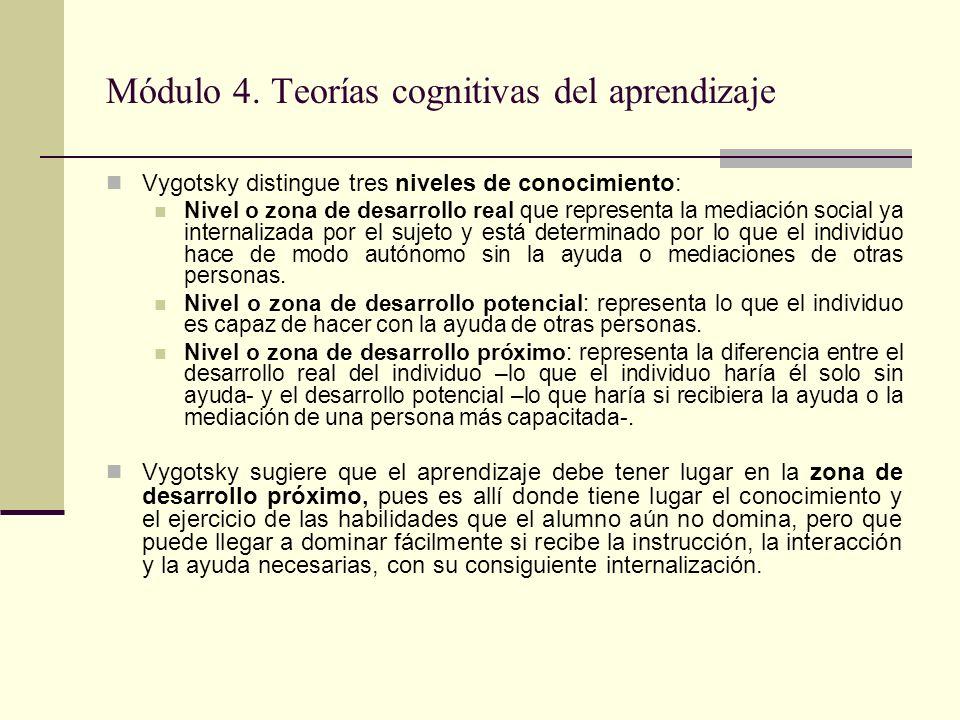 Módulo 4.Teorías cognitivas del aprendizaje III.