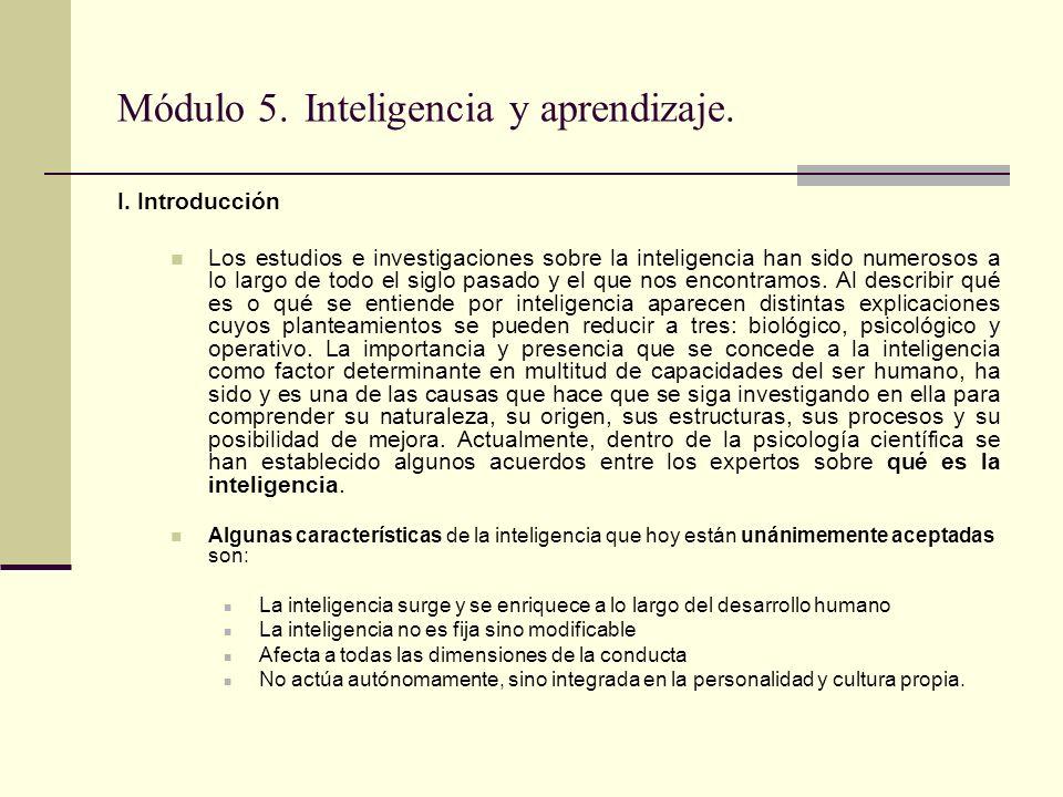 I. Introducción Los estudios e investigaciones sobre la inteligencia han sido numerosos a lo largo de todo el siglo pasado y el que nos encontramos. A