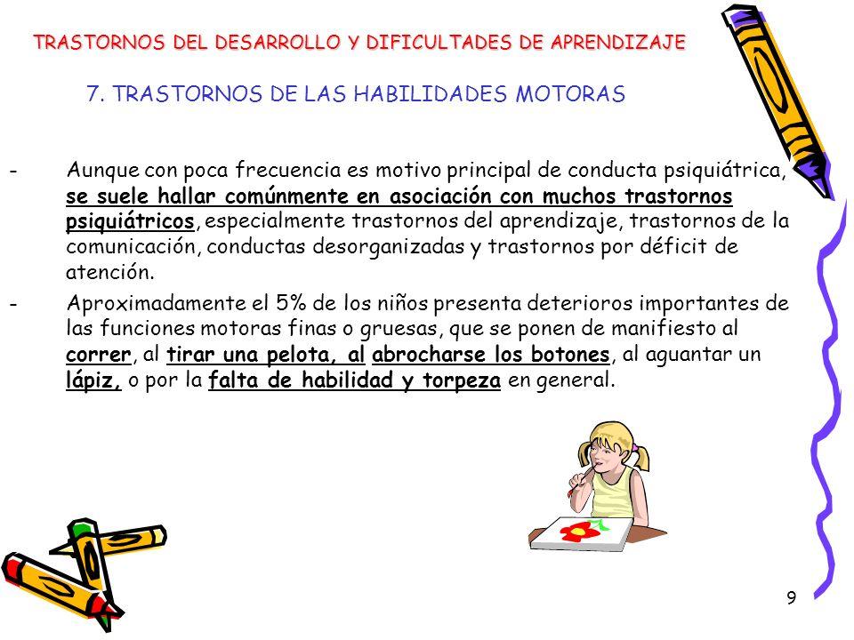 40 Trastornos de las habilidades motoras Trastornos del desarrollo de la coordinación