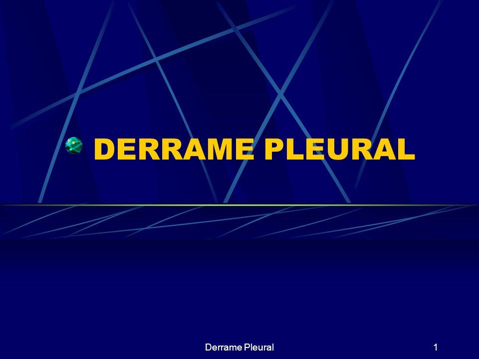 Derrame Pleural12 Flujo-0,01ml/k/h Media liquido 0,1-0,2ml/k Capacidad de reabsorción 0,22-0,28ml/k/h FORMACION FISIOLOGICA DEL LIQUIDO PLEURAL PEP